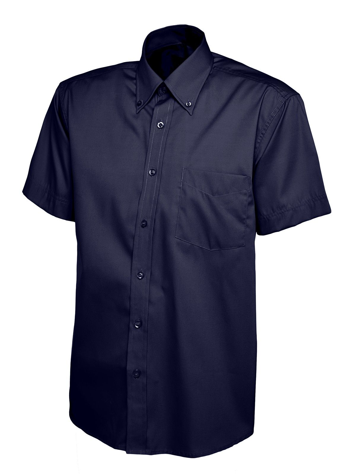 Embroidered Mens Oxford Short Sleeve Shirt